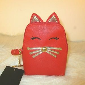 Small red cat bag NWT